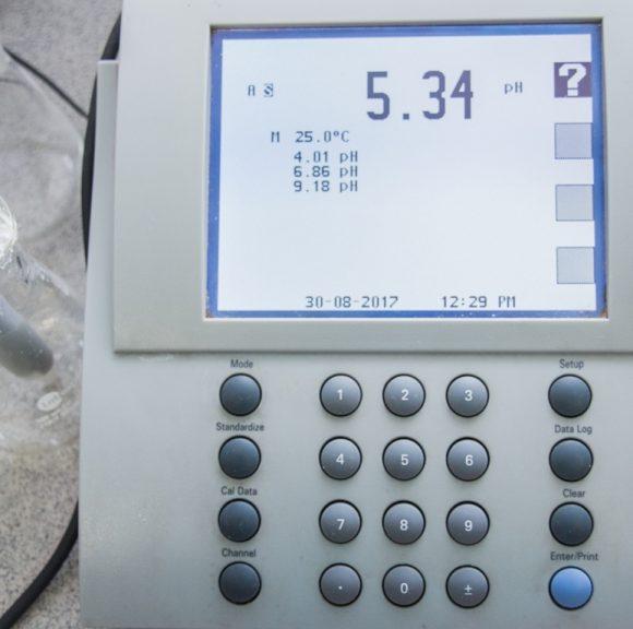 Acidity of soil (pH)