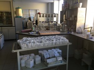 Season of soil analysis in Agrotest Lab.
